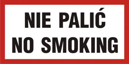 Znak nie palić - No smoking