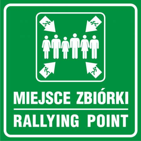 Znak miejsce zbiórki - Rallying point