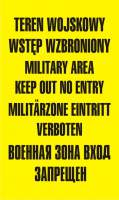 Znak teren wojskowy wstęp wzbroniony military area keep out no entery