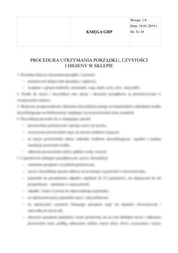 Punkt małej gastronomii - Księga HACCP + GHP-GMP dla punktu małej gastronomii 8