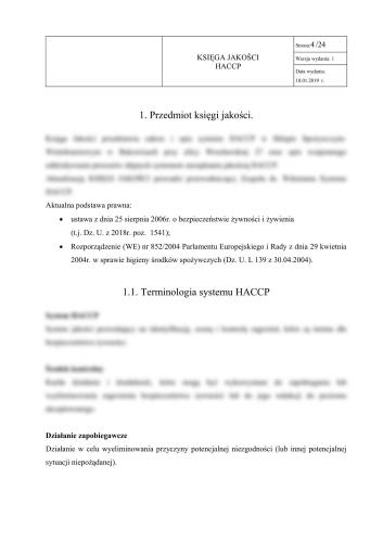 Restauracja włoska - Księga HACCP + GHP-GMP dla restauracji włoskiej 3