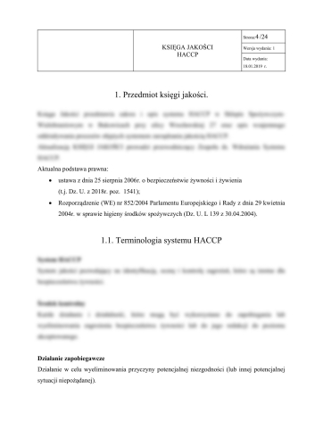 Bistro - Księga HACCP + GHP-GMP + alergeny dla bistro 3