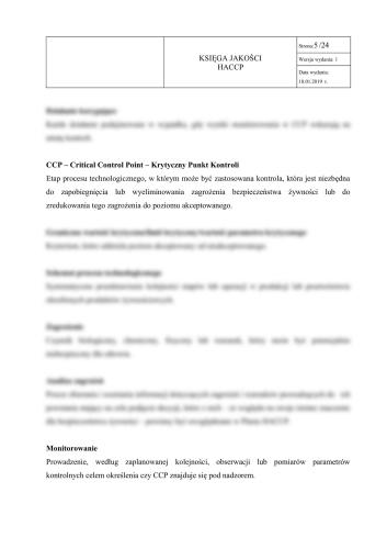 Sala bankietowa - Księga HACCP + GHP-GMP dla sali bankietowej 4