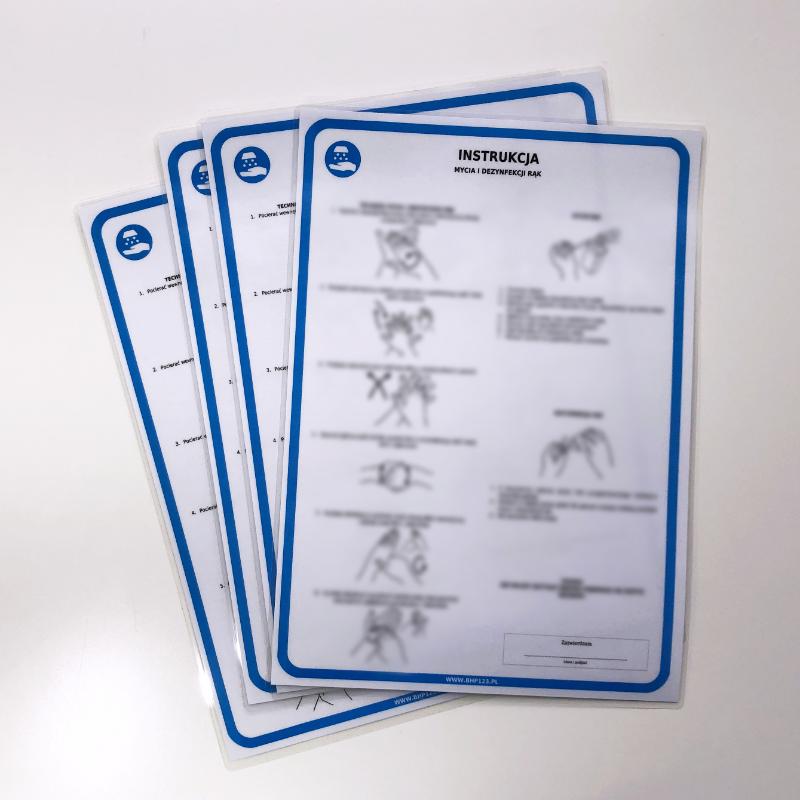 Wózki i kosze zakupowe - instrukcja mycia i dezynfekcji wózków i koszy 1