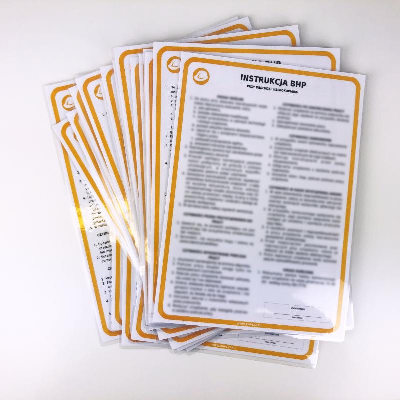 Drukarka - instrukcja BHP przy obsłudze drukarki 1